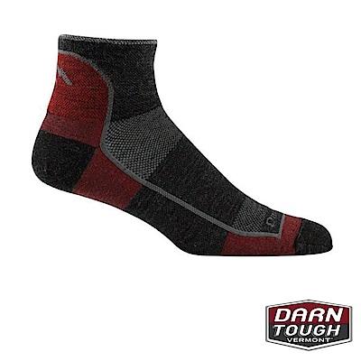 【美國DARN TOUGH】男羊毛襪1/4 SOCK越野運動襪(2入隨機)
