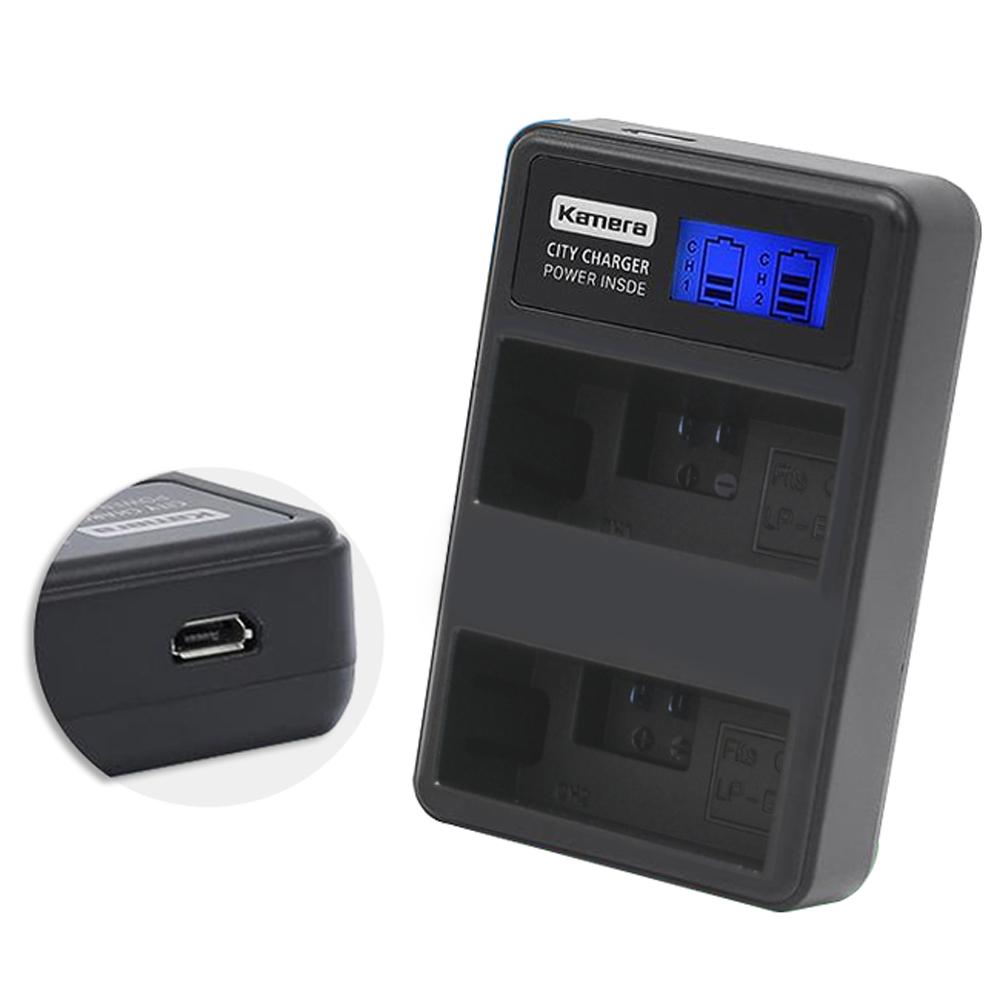 Kamera佳美能 液晶雙槽充電器for Canon LP-E5 (一次充兩顆電池)