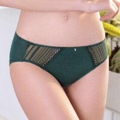 推EASY SHOP-唯美零感肌著 中腰三角褲(孔雀綠)