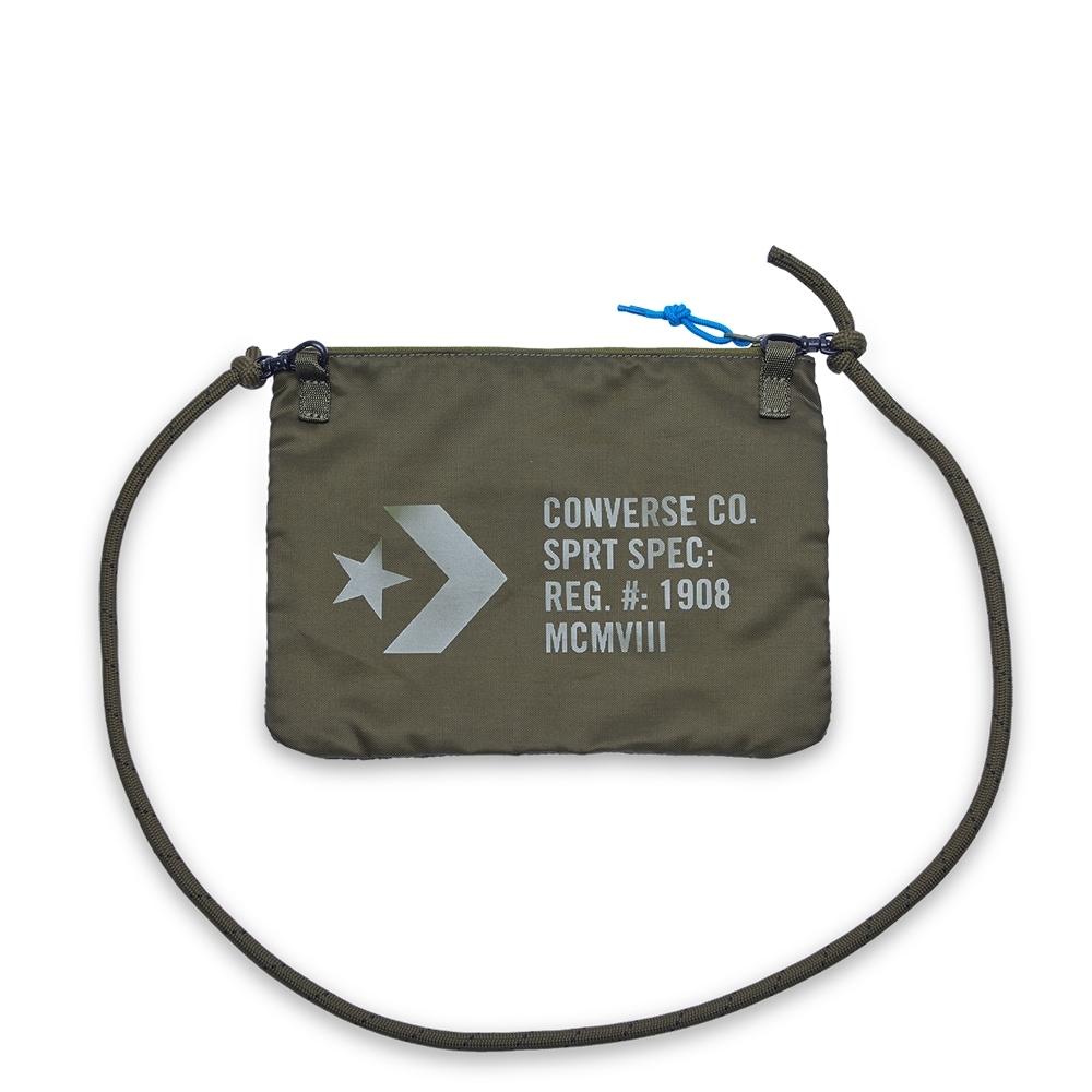 converse 拉鍊小包 網袋 側背-10017708-A02橄欖綠