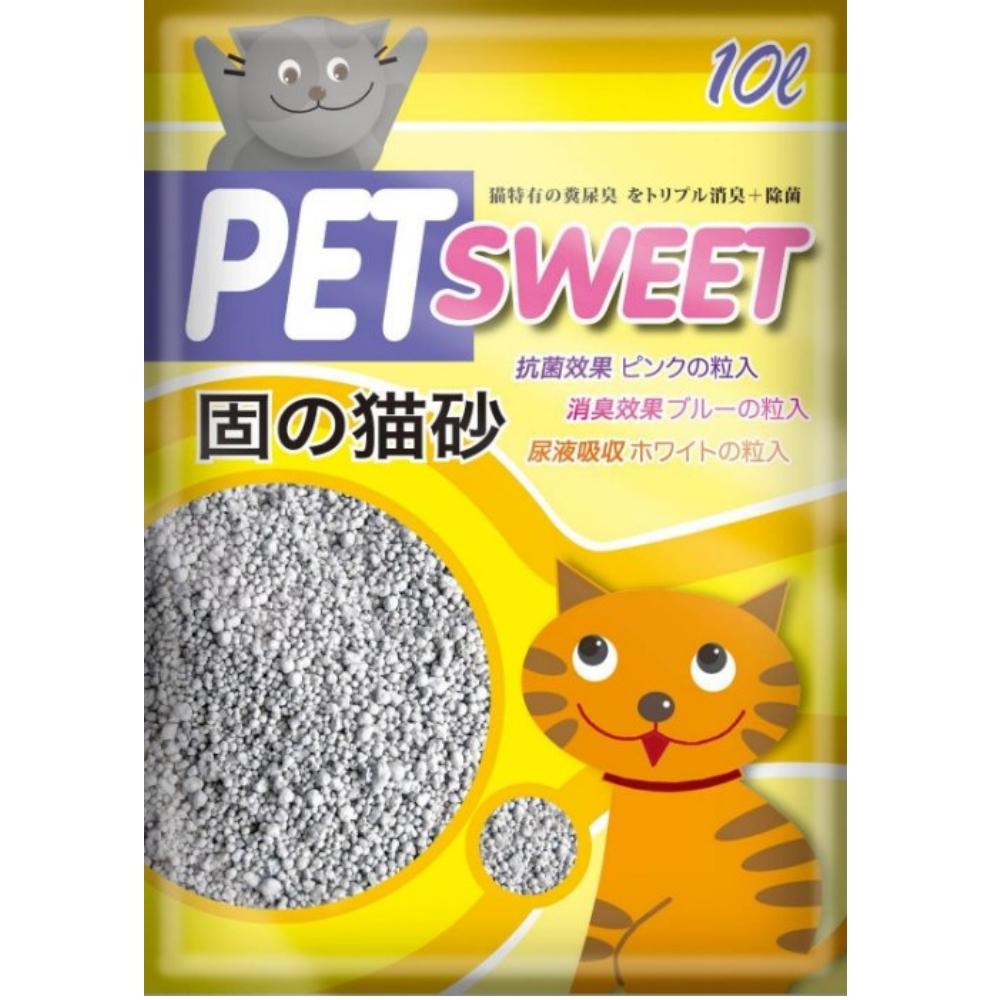 PET SWEET 加菲貓貓砂 10L 三包組