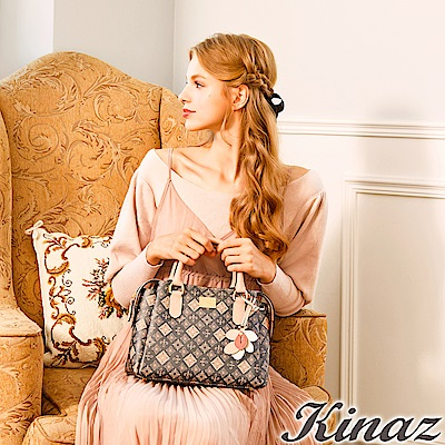 KINAZ 幸福許諾兩用斜背包-蘋果花系列