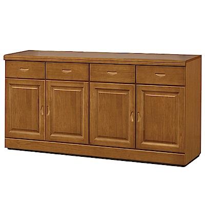 綠活居 尼圖曼時尚5.3尺實木餐櫃/收納櫃-160x44x84cm-免組