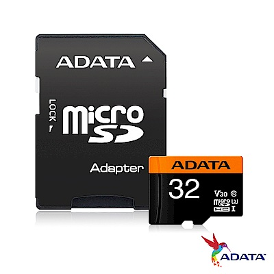 威剛 Premier Pro microSDHC UHS-I U3(V30) 32G記憶卡
