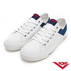 【PONY】Shooter經典不敗基本款帆布鞋 小白鞋 懶人鞋 滑板鞋-男鞋