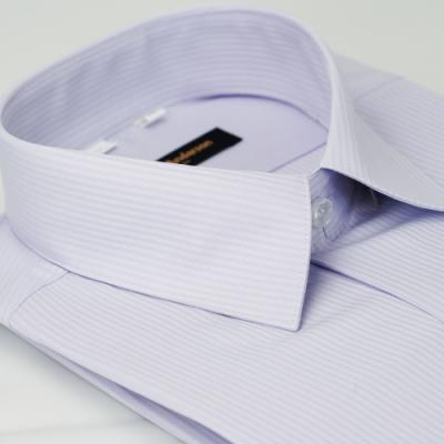【金安德森】淡紫色吸排窄版長袖襯衫