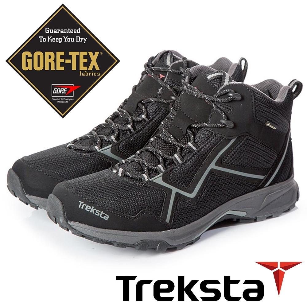 Treksta  男 GTX 防水中筒健行鞋『黑灰』KR20CM