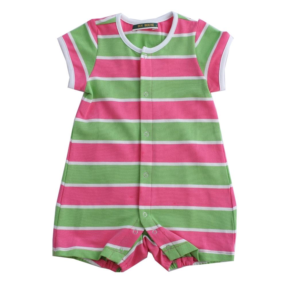 IVY HOUSE常春藤童裝 純棉橫條 嬰童連身裝(65cm~85cm)