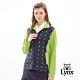 【Lynx Golf】女款防潑水立領雙層菱格滿版可愛貓印花長袖外套-深藍色 product thumbnail 2
