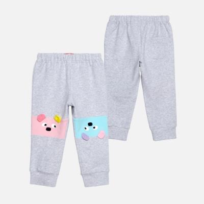 WHY AND 1/2 mini 拼接棉質萊卡縮口褲 1Y~4Y