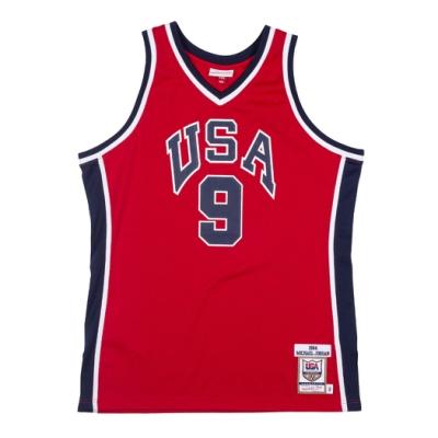 M&N Authentic球員版復古球衣 84 TEAM USA #9 Michael Jordan