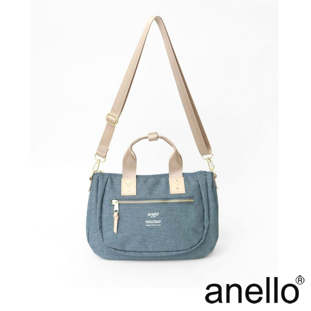 anello ATELIER 手提斜背兩用包 淺藍丹寧