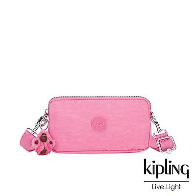 Kipling 甜美糖果粉側背多功能配件包-EMILIA