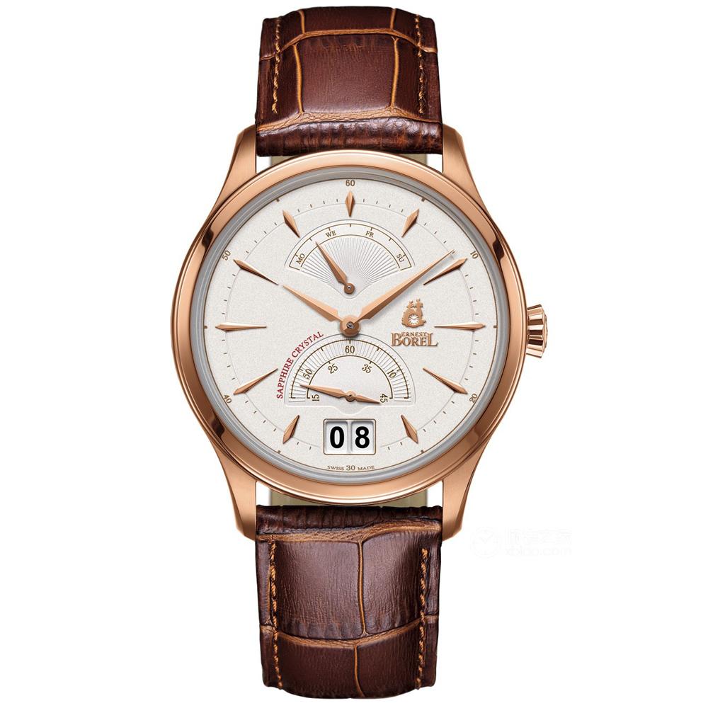 ERNEST BOREL 瑞士依波路錶 復古系列-白色42mm