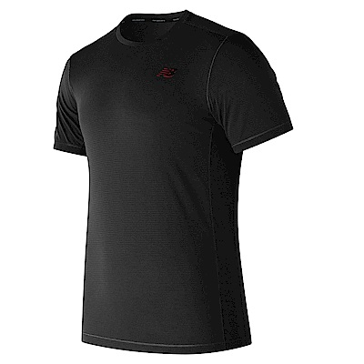 New Balance 短袖上衣  AMT81090BK 男性 黑色