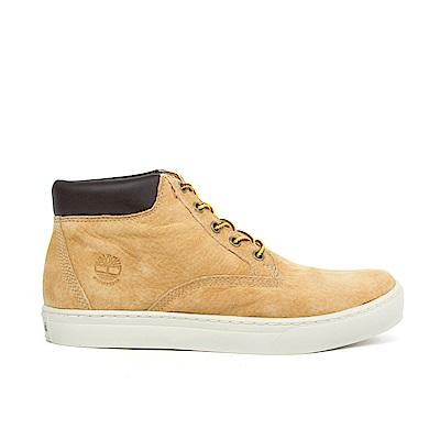 Timberland 男款卡其色皮革戶外休閒鞋 | A1KDI231