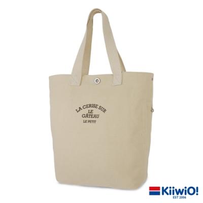 Kiiwi O! 極簡厚磅帆布托特包 CORINNE 原色