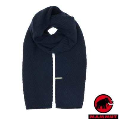 長毛象 Roseg Scarf 加大版型時尚多變造型保暖圍巾_藏青