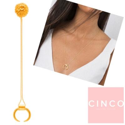 葡萄牙精品 CINCO Shout necklace 24K金新月項鍊 經典款