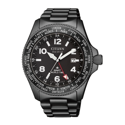 CITIZEN星辰PROMASTER限量光動能潛水腕錶-黑42mm(BJ7107-83E)