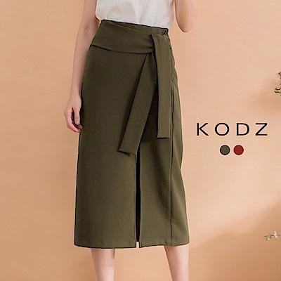 東京著衣-KODZ 時髦美人彈力窄版中長裙-S.M.L(共二色)