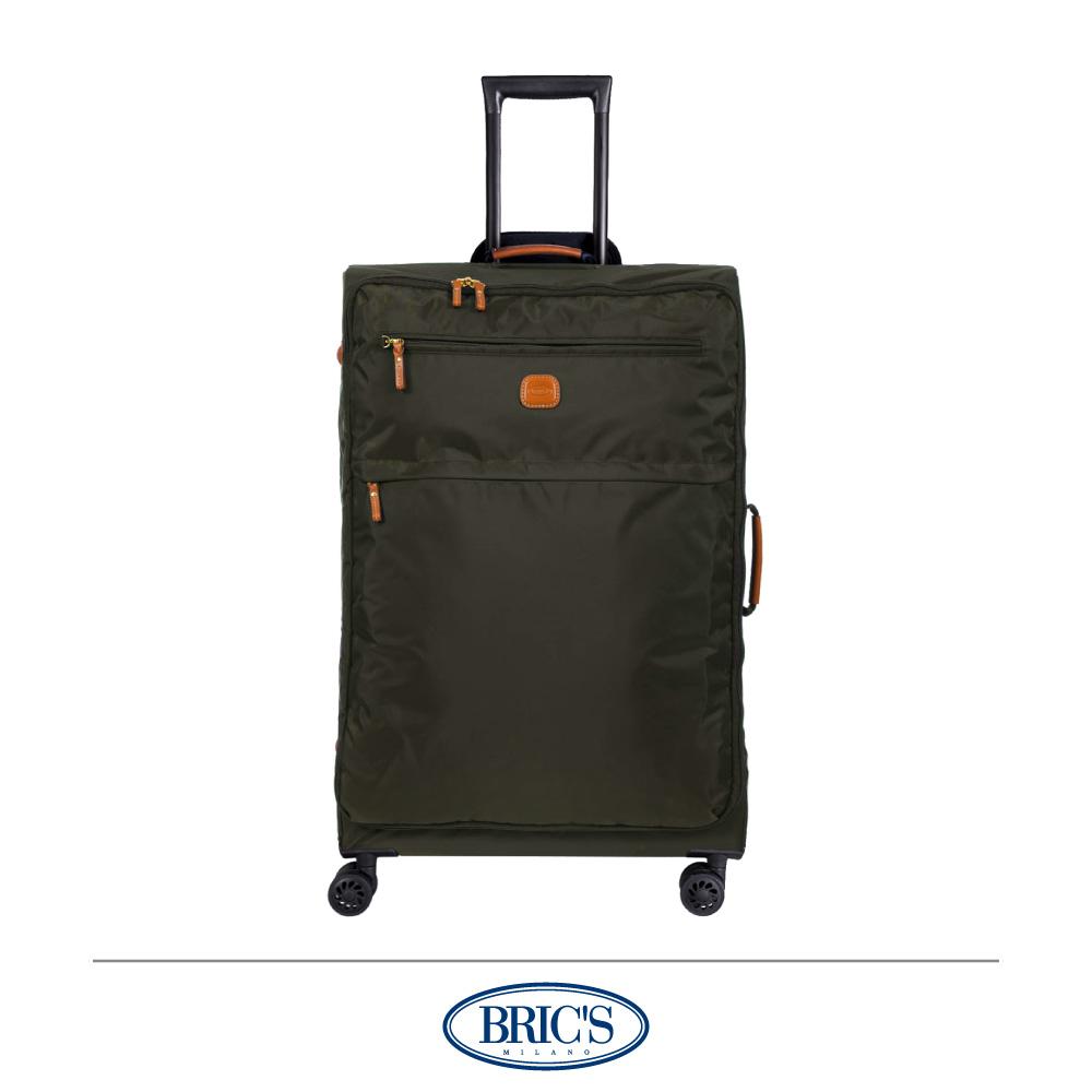 BRICS 義大利 28吋 超輕量 小牛皮防水布箱 橄欖綠