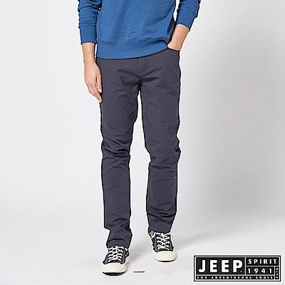 JEEP  美式簡約休閒百搭長褲 -深藍色