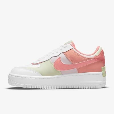 Nike AF1 SHADOW 厚底 解構 女休閒鞋-白粉-CI0919110