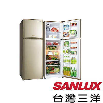 SANLUX台灣三洋 380L 變頻雙門電冰箱 SR-C380BV1