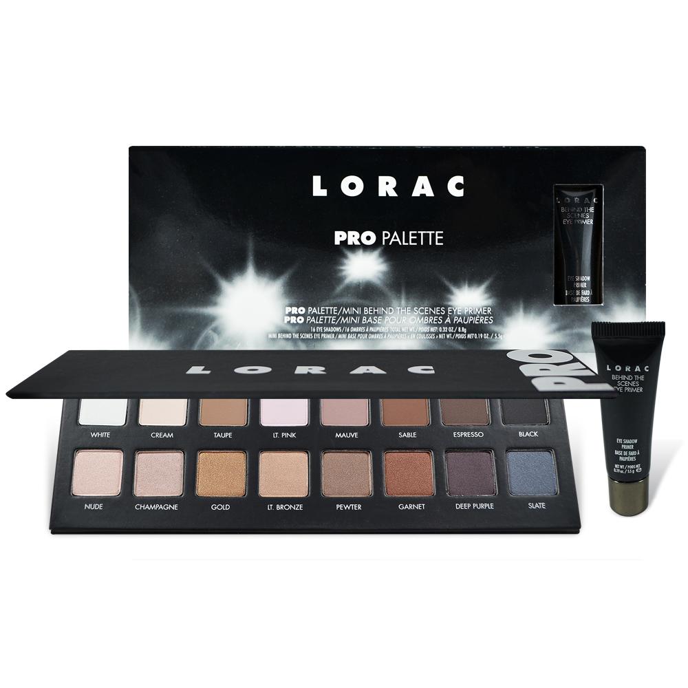 Lorac Pro 1 16色眼影盤+眼部打底膏 5.5g