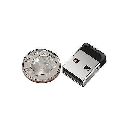 SanDisk Cruzer Fit USB 黑豆隨身碟 16GB (公司貨)