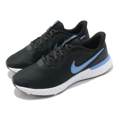 Nike 慢跑鞋 Revolution 5 EXT 運動 男鞋 輕量 透氣 舒適 避震 路跑 健身 球鞋 黑 藍 CZ8591004