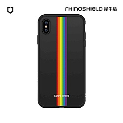 犀牛盾SolidSuit獨家設計防摔背蓋手機殼-Love彩虹