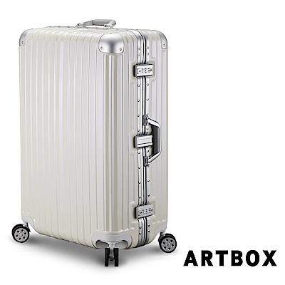 【ARTBOX】威尼斯漫遊-29吋PC鏡面鋁框行李箱 (白色)