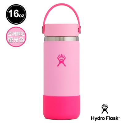 網路限定│美國Hydro Flask 寬口鋼瓶 Prism Pop 473ml 螢光粉