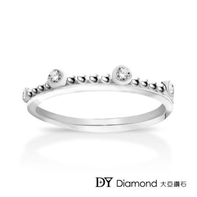 DY Diamond 大亞鑽石 L.Y.A輕珠寶 18K白金 古典 鑽石線戒