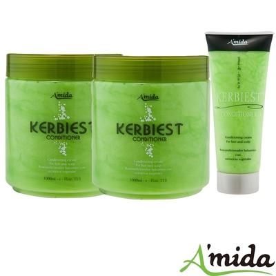 [時時樂限定]Amida 蜜拉葉綠素頭皮髮調理護髮素全家組(1000ml*2+200ml)