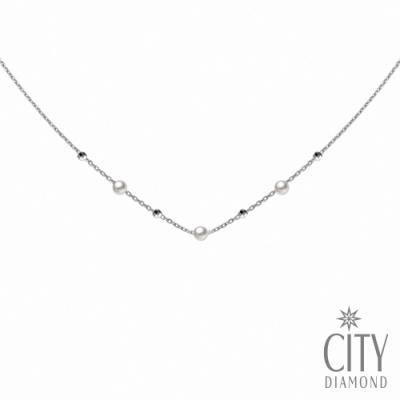 City Diamond引雅【東京Yuki系列】銀日本BabyAKOYA珍珠項鍊