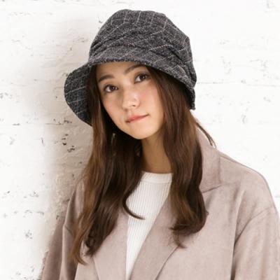 QUEENHEAD日系保暖抗寒小顏帽(藍黑色)