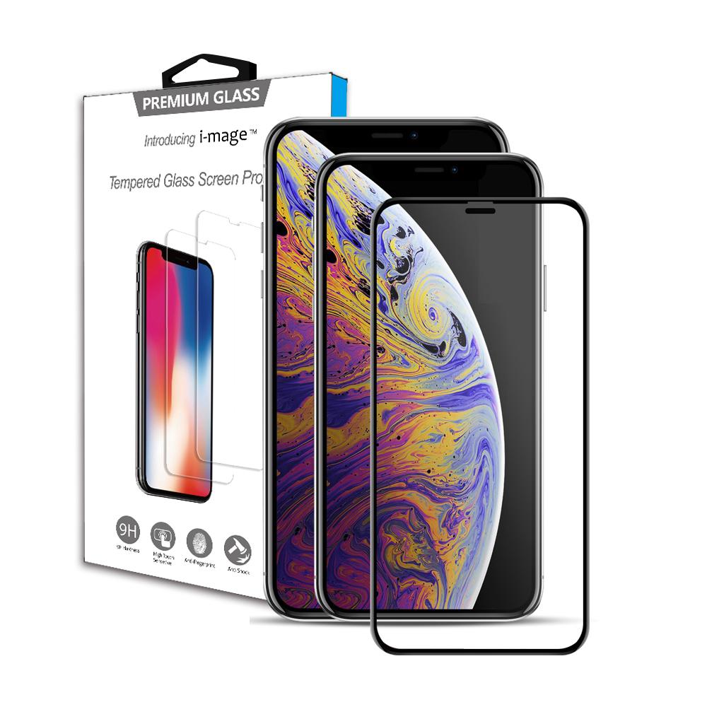 i-mage iPhone 11ProMax/XsMax 6.5吋 滿版3D+鋼化玻璃保護貼