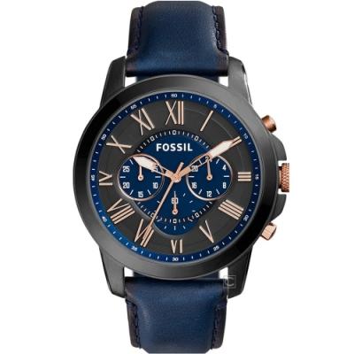 FOSSIL Grant 系列 羅馬時標計時腕錶(FS5061)44mm