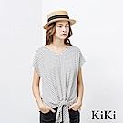 KiKi INLook 舒適感條紋扭結上衣