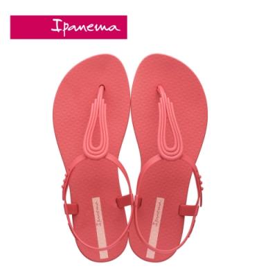 IPANEMA CLASS POP IV 水滴鏤空T字涼鞋-西瓜紅