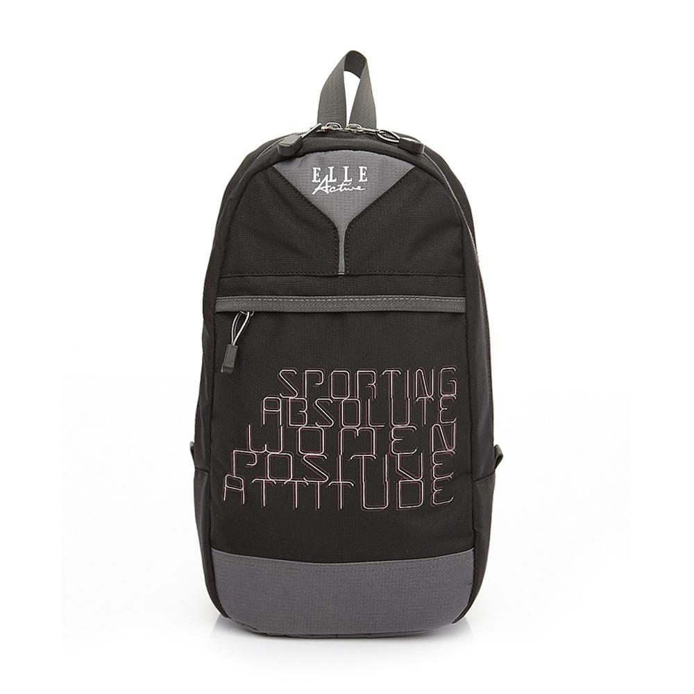 ELLE Active 活力運動風系列-單肩後背包-黑色