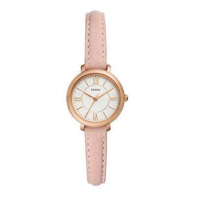 FOSSIL 氣質淑女粉嫩皮革腕錶-粉紅色(ES4411)/27mm