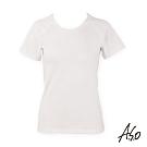 A.S.O 負離子系列-女士排汗短袖上衣-白