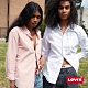 Levis 男女同款 單口袋襯衫 / 寬鬆休閒版型 / 漂染鮭魚粉 product thumbnail 1