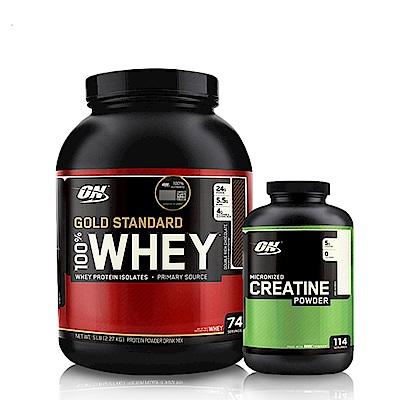 [美國 ON]金牌WHEY乳清蛋白(5磅)+肌酸600公克