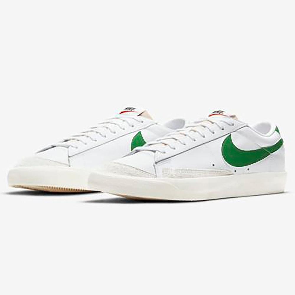 NIKE 休閒鞋 運動鞋 皮革 麂皮 男鞋 白綠 DA6364115 BLAZER LOW 77 VNTG