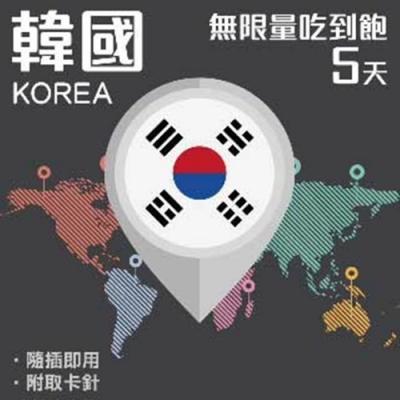 【PEKO】韓國上網卡 5日高速4G上網 無限量吃到飽 優良品質